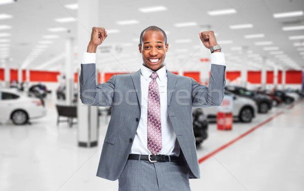 Happy Car dealer. Stock photo © Kurhan