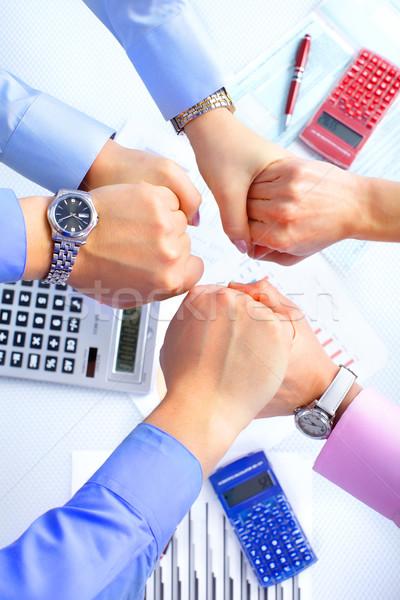 Stock fotó: üzleti · csapat · üzletemberek · csapat · dolgozik · iroda · nő