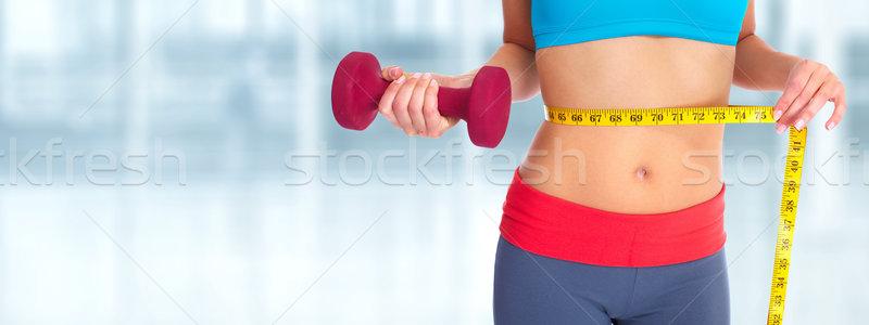 женщину живот синий диеты Сток-фото © Kurhan