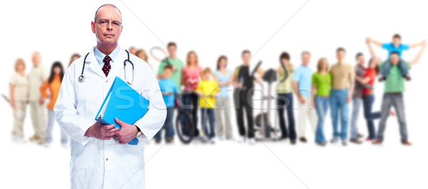Senior doctor and people group. Stock photo © Kurhan