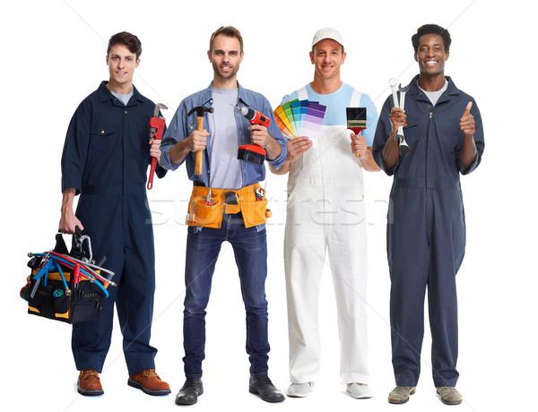 工人 組 組人 工具 汽車 機械師 商業照片 © Kurhan
