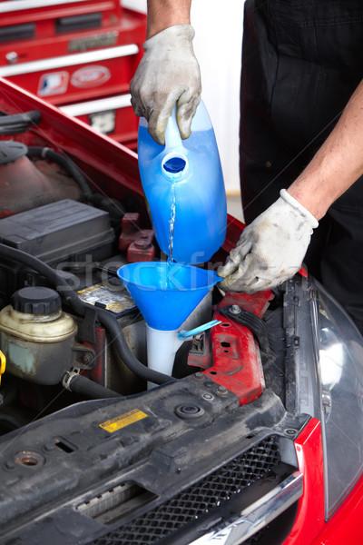 Automonteur wasmachine monteur werken auto reparatie Stockfoto © Kurhan