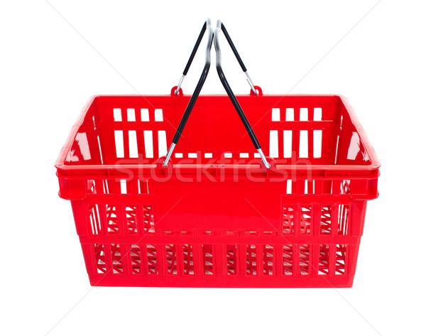 Bevásárlókosár üres élelmiszer izolált fehér vásárlás Stock fotó © Kurhan