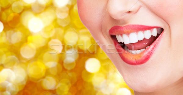 Smile and healthy teeth. Stock photo © Kurhan