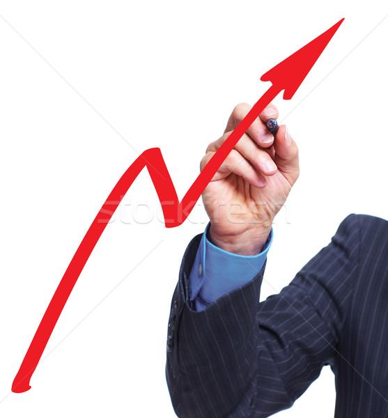 Kéz grafikon üzlet férfi absztrakt háttér Stock fotó © Kurhan
