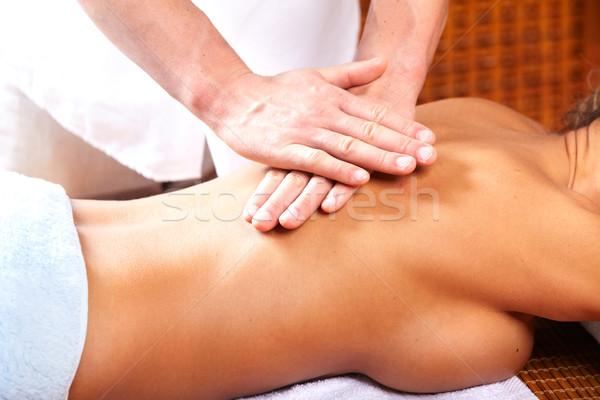 Back massage. Stock photo © Kurhan