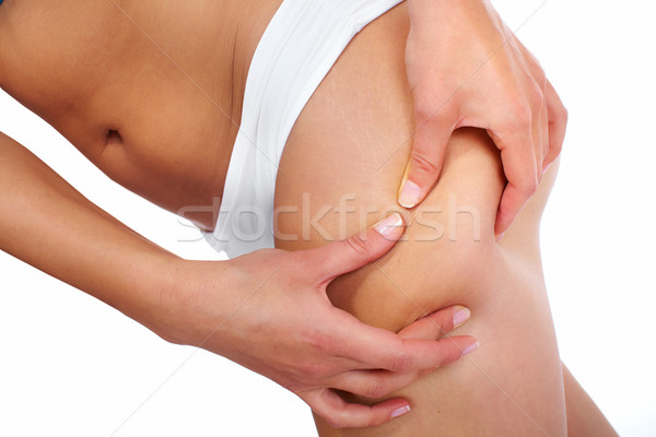 Mulher celulite dieta fitness isolado branco Foto stock © Kurhan