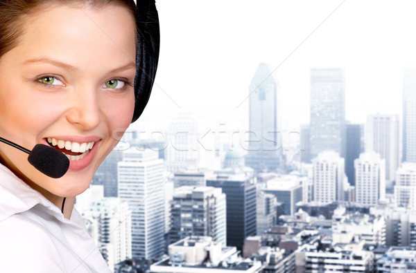Call center agent business woman zestawu działalności centrum Zdjęcia stock © Kurhan