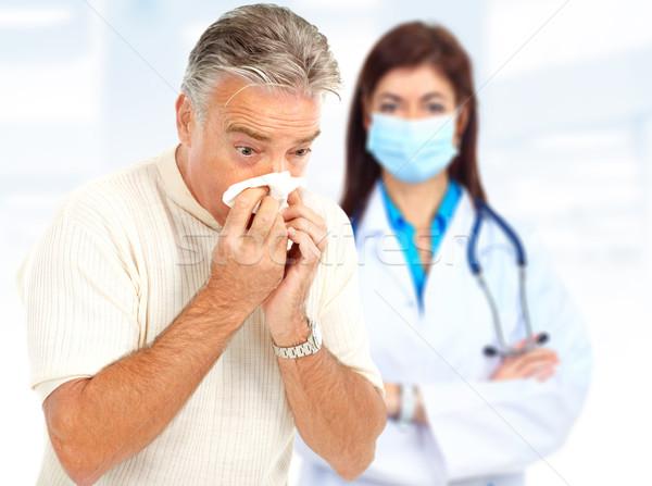Influenza medico uomo bianco faccia salute Foto d'archivio © Kurhan