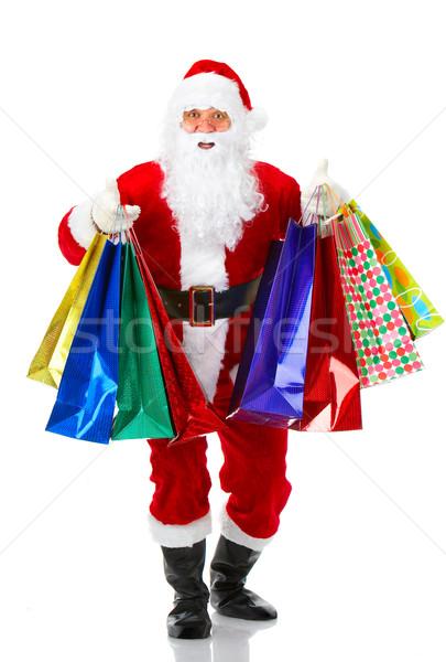 Shopping Christmas Santa Stock photo © Kurhan