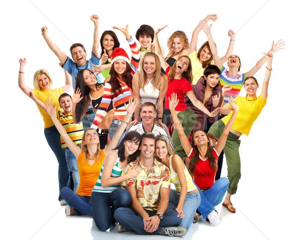 Stock photo: happy people