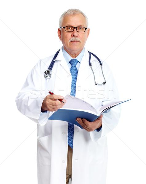 Doktor doktor ayakta yalıtılmış beyaz adam Stok fotoğraf © Kurhan