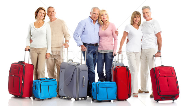 Stock photo: Senior couple travelers