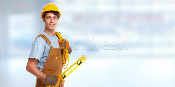 Electrician with electrical cable Stock photo © Kurhan
