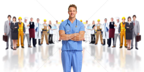 Doctor and people group. Stock photo © Kurhan