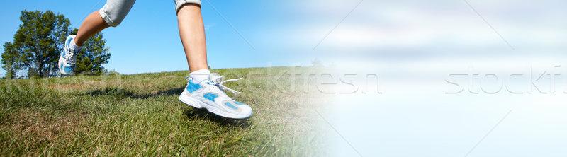 Jogging woman legs Stock photo © Kurhan