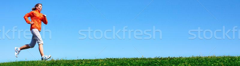 Jogging woman. Stock photo © Kurhan