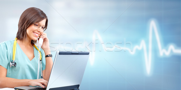 Doctor woman. Stock photo © Kurhan