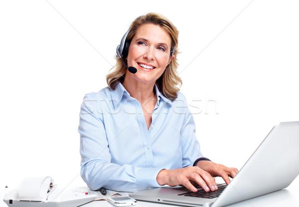 Service clients représentant femme travail bureau heureux Photo stock © Kurhan