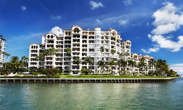 Belo Miami paisagens céu casa Foto stock © Kurhan