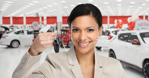 Femme clé Auto Photo stock © Kurhan