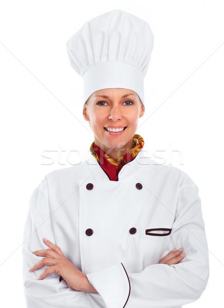 Beautiful chef woman. Stock photo © Kurhan