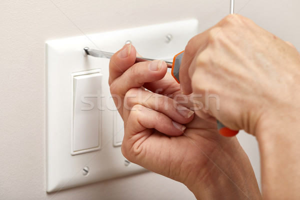 Switch repairing. Stock photo © Kurhan
