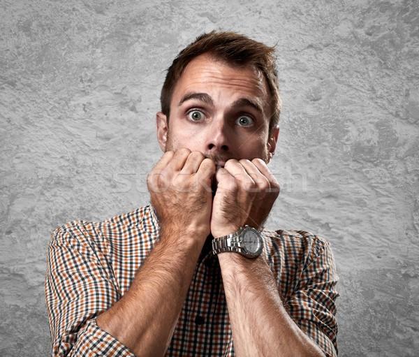 怖い 男 顔 驚いた 小さな ストックフォト © Kurhan