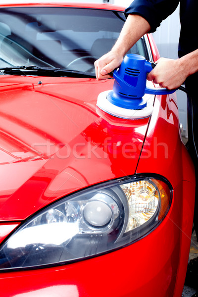 Car polishing Stock photo © Kurhan