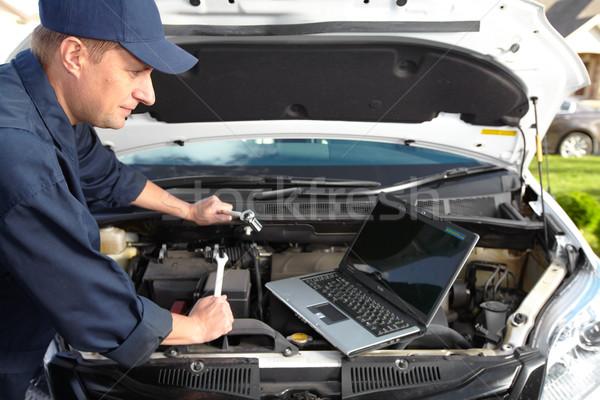 Stok fotoğraf: Araba · mekanik · çalışma · oto · tamir · alışveriş