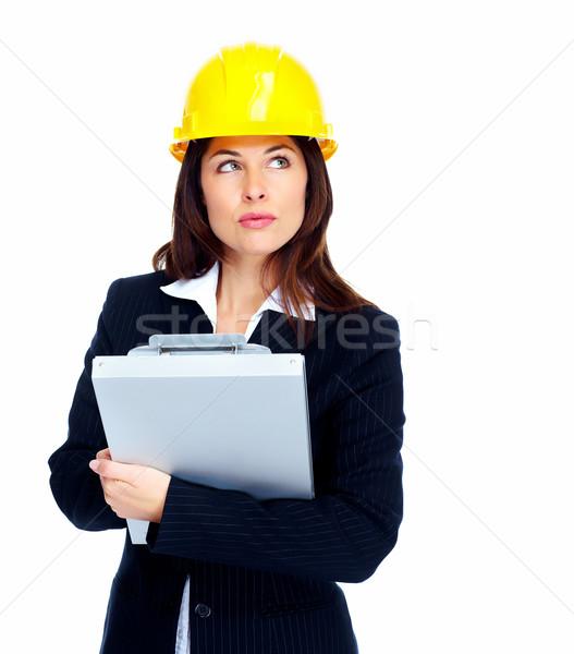 Worker contractor woman. Stock photo © Kurhan