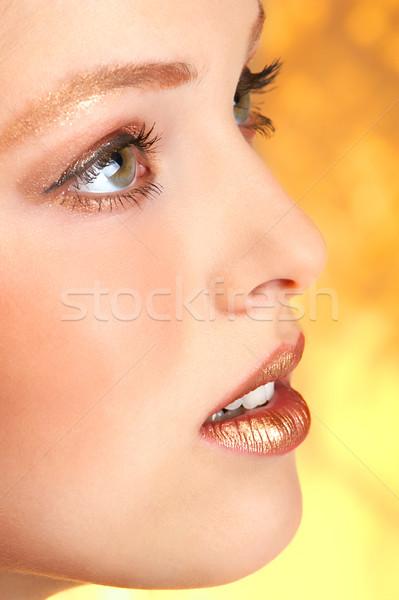 Stockfoto: Mooie · vrouw · gezicht · mooie · jonge · vrouw · meisje