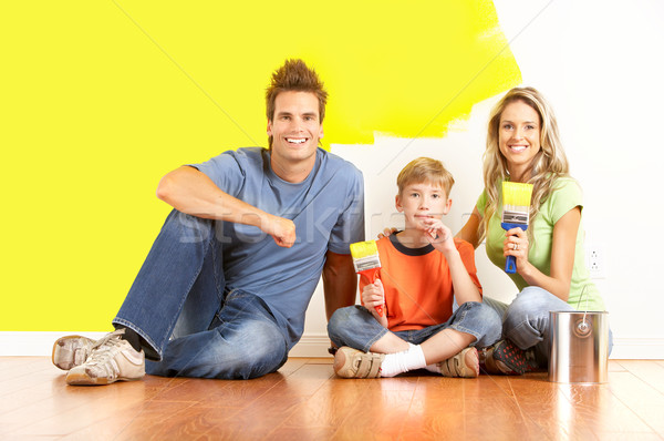 family painting Stock photo © Kurhan
