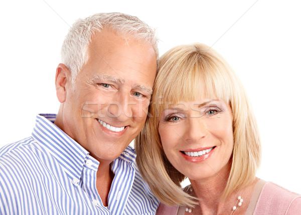 Liefde geïsoleerd witte familie gelukkig Stockfoto © Kurhan