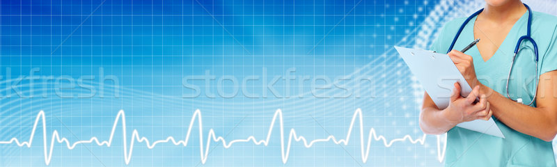 Hands of medical doctor Stock photo © Kurhan