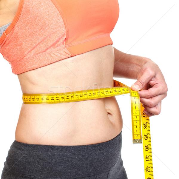 Frau Körper Ernährung Hintergrund Stock foto © Kurhan