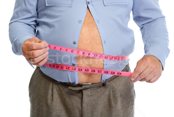 Grubas brzuch człowiek ciało Zdjęcia stock © Kurhan