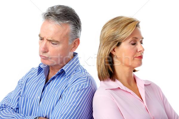 Ongelukkig paar relatie scheiding Stockfoto © Kurhan