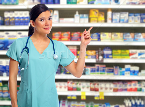 Doctor pharmacist woman. Stock photo © Kurhan