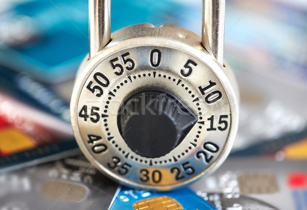 Lock with credit card. Stock photo © Kurhan