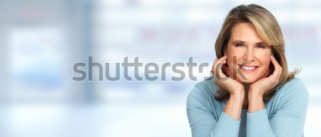Beautiful elderly woman portrait. Stock photo © Kurhan