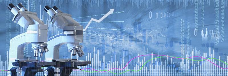 Biotech stock befektetés egészségügy orvosi diagram Stock fotó © Kurhan