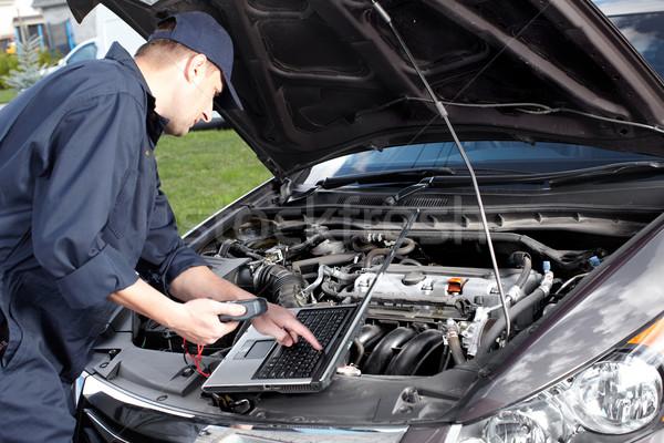 Foto d'archivio: Auto · meccanico · lavoro · auto · riparazione · servizio