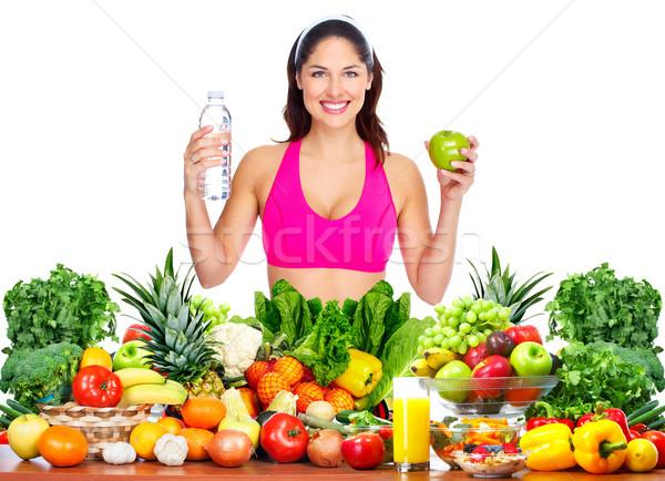 Nő fogyás karcsú egészséges egészség diéta Stock fotó © Kurhan