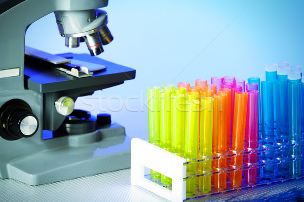 Scientific microscope Stock photo © Kurhan