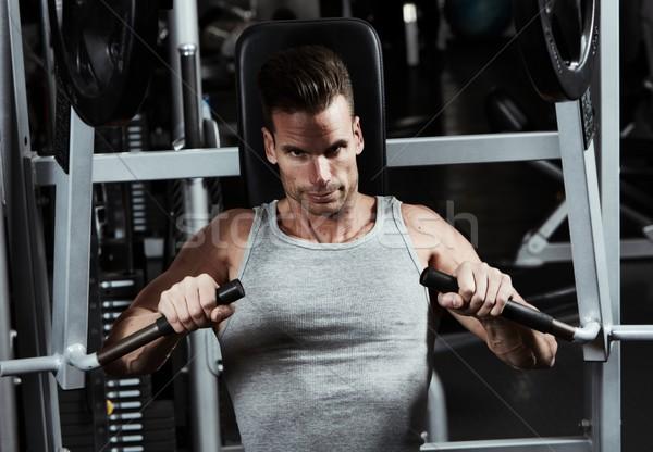 Gym workout Stock photo © Kurhan