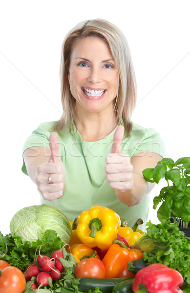 Foto stock: Vegetables and fruits