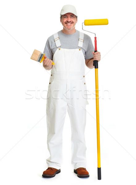 Painter man. Stock photo © Kurhan