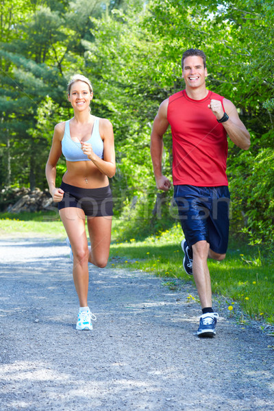 Jogging couple. Stock photo © Kurhan