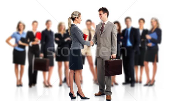Réunion d'affaires groupe gens d'affaires équipe commerciale isolé blanche Photo stock © Kurhan
